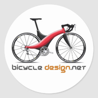 Bicycle Design round stickers