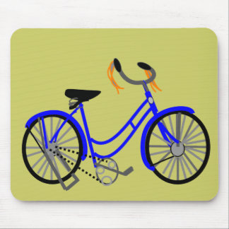 Bicycle Drawing, 1950's Style Mouse Mats
