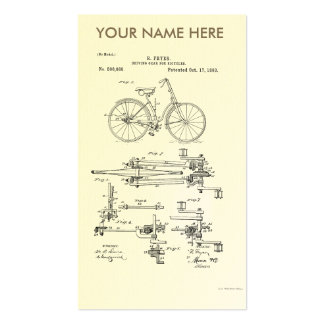 BiCYCLE DRIVING GEAR PATENT 1893 Business Card