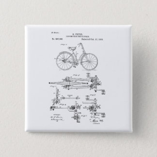 BiCYCLE DRIVING GEAR PATENT 1893 Button