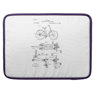 BiCYCLE DRIVING GEAR PATENT 1893 MacBook Pro Sleeve