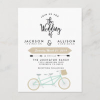 Bicycle Duo Wedding Invite