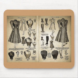 Bicycle Fashions - Vintage Catalog Mouse Pad