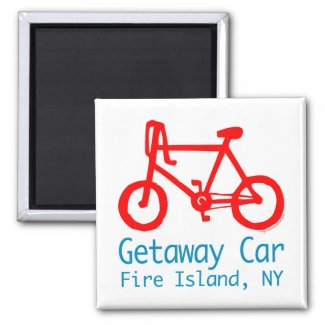 Bicycle Fire Island magnet