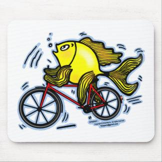 Bicycle Fish (Bike) Mouse Pad