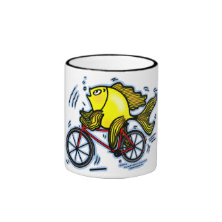 Bicycle Fish (Bike) Mugs