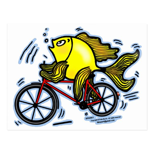 Bicycle Fish (Bike) Postcard