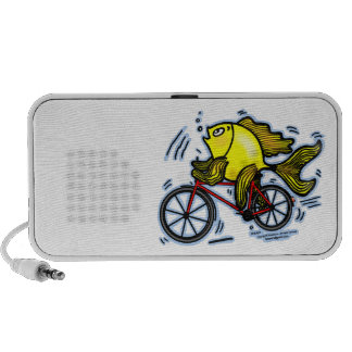 BICYCLE FISH funny Sparky cartoon gift Mp3 Speakers
