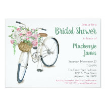 Bicycle invitations pro cycle world bicycle floral bridal shower invitation filmwisefo