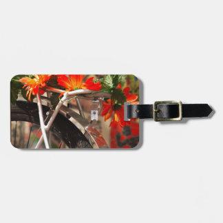 Bicycle Flowers Bag Tag