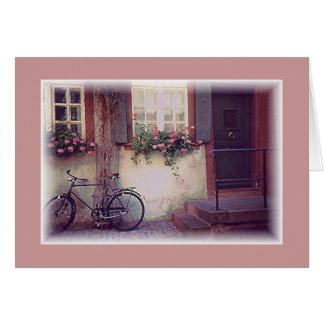 """Bicycle, Flowers &Window Box"" /EUROPE Card"