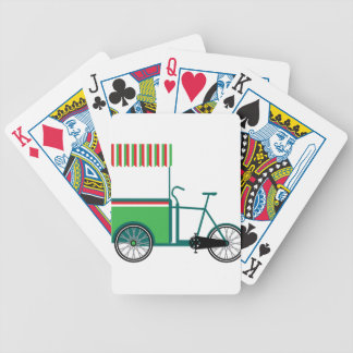 Bicycle food cart bicycle playing cards