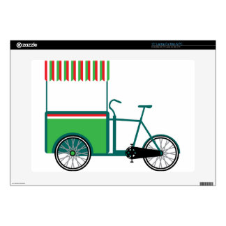 """Bicycle food cart decal for 15"""" laptop"""