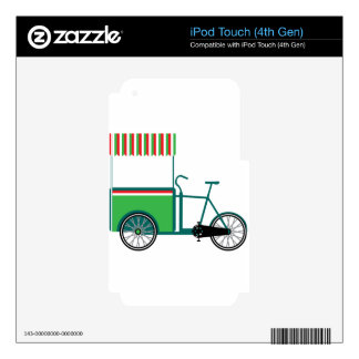 Bicycle food cart decal for iPod touch 4G