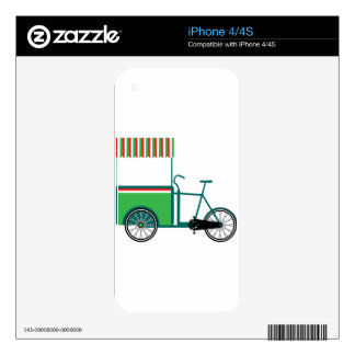 Bicycle food cart decal for the iPhone 4S