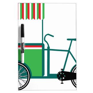 Bicycle food cart Dry-Erase board