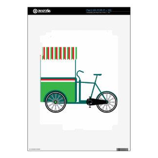 Bicycle food cart iPad 2 decals