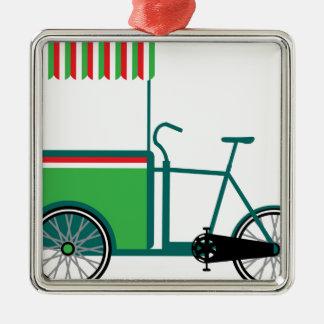Bicycle food cart metal ornament