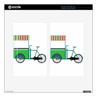 Bicycle food cart skin for kindle fire