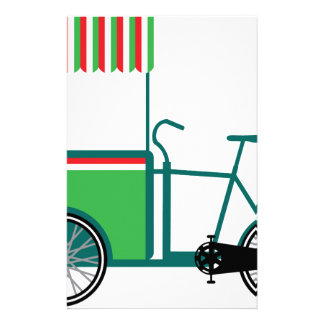 Bicycle food cart stationery
