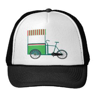 Bicycle food cart trucker hat