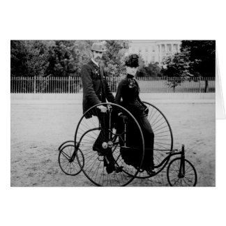 Bicycle For Two at the White House 1886 Greeting Card