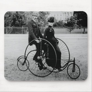 Bicycle For Two at the White House 1886 Mouse Pad