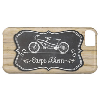 Bicycle for Two, Carpe Diem Mod Chalkboard Rustic Case For iPhone 5C