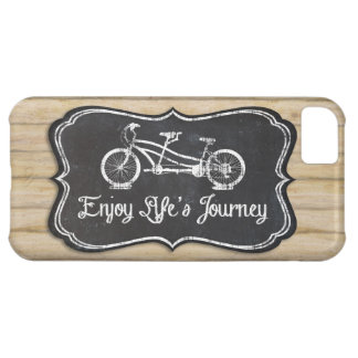 Bicycle for Two, Lifes Journey Chalkboard Rustic iPhone 5C Cover