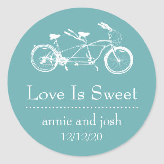 Bicycle For Two Love Is Sweet Labels (Sea Foam)