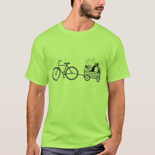 Bicycle fruit cart vegan tshirt