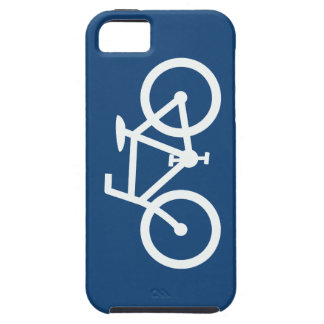 Bicycle Gaphic, Navy Blue & White iPhone 5 Cover