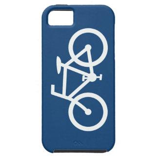 Bicycle Gaphic, Navy Blue & White iPhone SE/5/5s Case