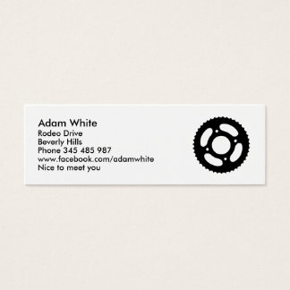 Bicycle gear mini business card