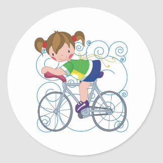 Bicycle Gift Classic Round Sticker