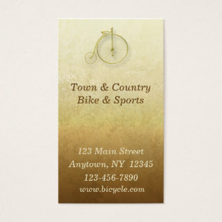 Bicycle Gold Business Card
