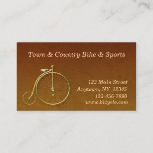 Bicycle business cards templates zazzle bicycle gold business card colourmoves