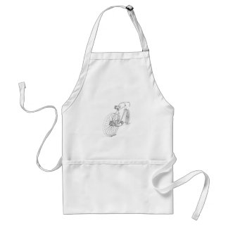 Bicycle Graphic Adult Apron