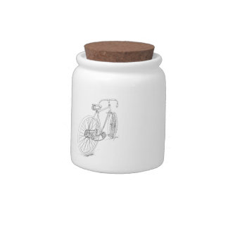 Bicycle Graphic Candy Jar