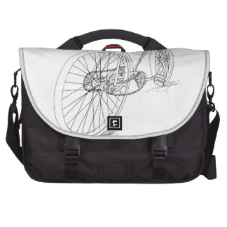 Bicycle Graphic Laptop Commuter Bag