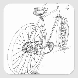 Bicycle Graphic Square Sticker