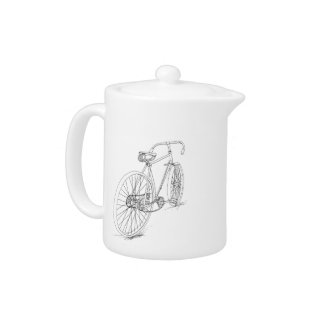 Bicycle Graphic Tea Pot