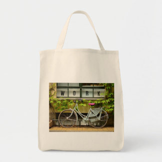 bicycle grocery tote bag