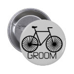 Bicycle Groom Tshirts and Gifts Button