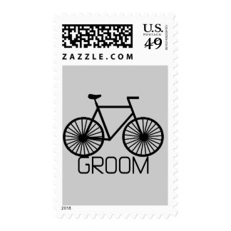 Bicycle Groom Tshirts and Gifts Postage Stamps