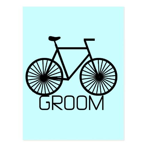 Bicycle Groom Tshirts and Gifts Postcard