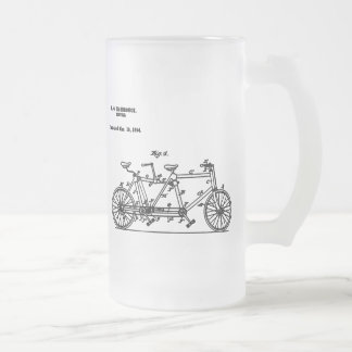 Bicycle Hasbrouk 1894 Frosted Glass Beer Mug