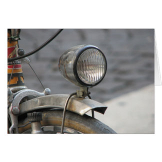 Bicycle Headlight In Italy Notecards Card