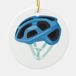 Bicycle Helmet Ceramic Ornament