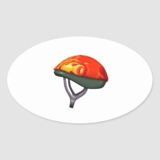 Bicycle Helmet Oval Sticker